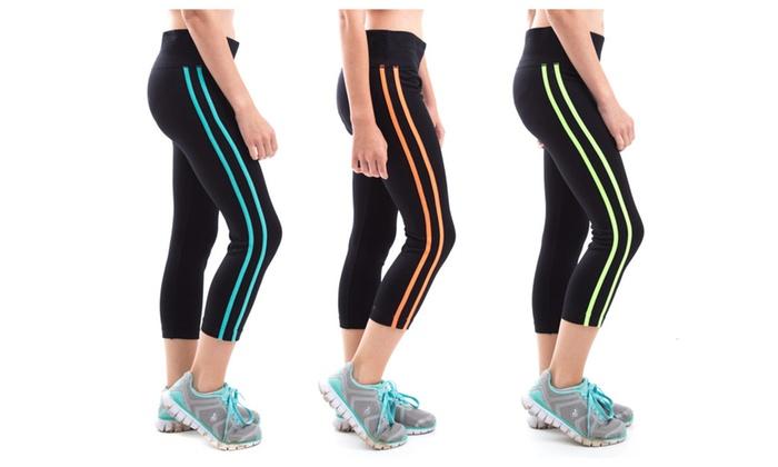 Women's Body Shaping 3-Quarter Athletic Sports Leggings