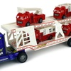 Fire Dept. Trailer Children's Kid's Friction Toy Truck RTR (Colors May Vary)