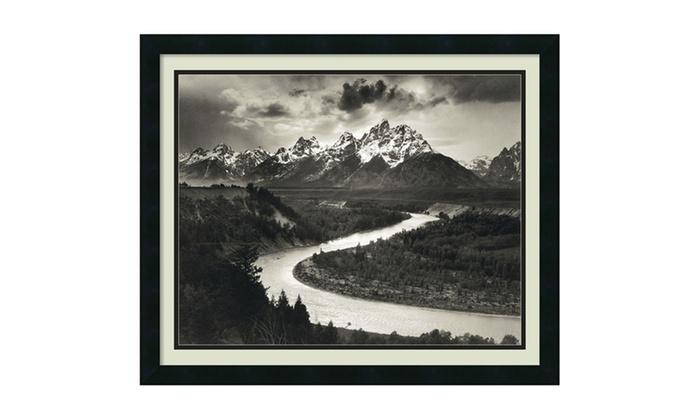 Ansel Adams The Tetons And Snake River Framed Art Print