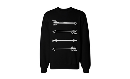 Tribal Arrows Unisex Black Graphic Sweatshirt - Tre