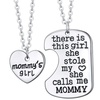 Mommy's Girl Silver Charm Pendant Set