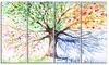 Groupon Goods: Four Seasons Tree - Floral Metal Wall Art