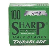 100 Sharp Stainless  Razor Blades for Barber & Shavette Straight Razor