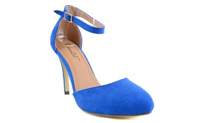 Blue Suede Shoes Anklet Round Toe Vegan