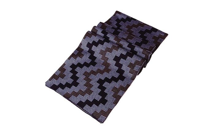 Men's Plaid Woolen Soft Warm Long Scarf