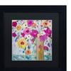 Carrie Schmitt 'Sunshine Daydream' Matted Black Framed Art