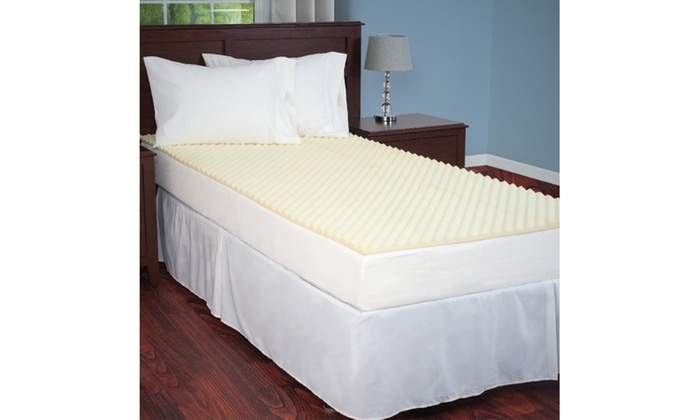 mattress topper egg crate ventilated foam twin xl groupon. Black Bedroom Furniture Sets. Home Design Ideas