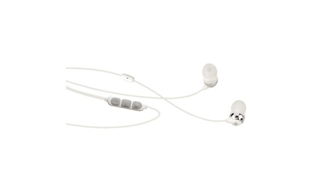 Scosche HP155MW Noise Isolation Earbuds with Tapline II Remote & Mic (White)
