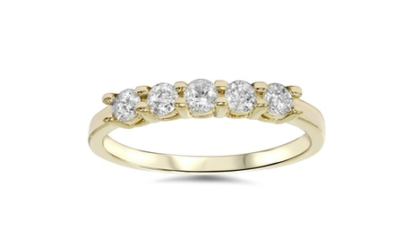 1/2 CT Five Stone Diamond Ring 14K Yellow Gold e2cd8500-9b69-455a-a5ea-aaba7916c201
