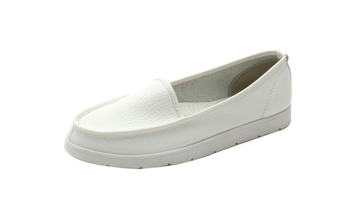 Women's Round Toe Slip-On Loafer Flat Shoes