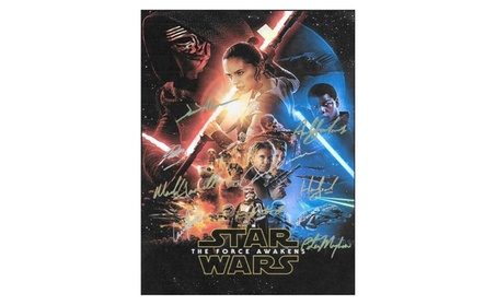 Star Wars: Episode VII The Force Awakens Autographed Poster 419024a4-a789-4e48-a2c0-4ed4ea4334b7