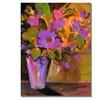 Shelia Golden Purple Magenta Flowers Canvas Print