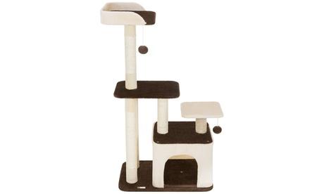 "Ollieroo 45"" Cat Tree Scratcher Post Furniture Kitten Tower Condo b0a0ddc3-09cf-4b11-a8cd-652176382b21"