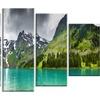 Mountain Lake Panorama - Photography Metal Wall Art