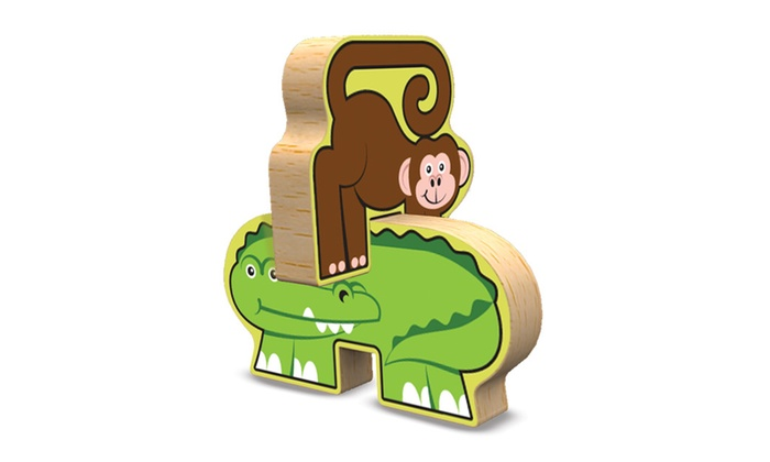 Melissa Doug Stacking Wooden Chunky Puzzle Zoo Animals 9024 Groupon