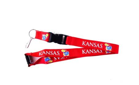 NCAA Kansas Jayhawks Clip Lanyard Keychain Id Ticket Holder Red 6311a2db-c46a-4bb7-949c-c30364cf65ca
