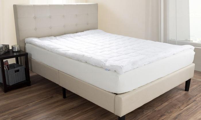 Lavish Home Down Alternative Bedding Topper 233 Thread Count Twin