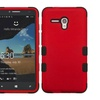 Insten Tuff Dual Silicone Case For Alcatel One Touch Fierce XL Red