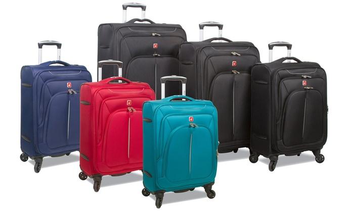Dejuno Summit Lightweight 3-Piece Spinner Luggage Set-Red