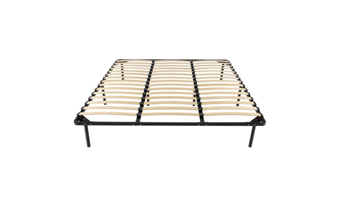 Up To 9% Off on Wooden Slat Metal Bed Frame W... | Groupon Goods