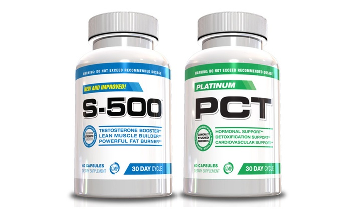 Buy It Now : Muscle Builder Kit-S-500 and Platinum PCT, 2  Bottles, 30 Day Supply