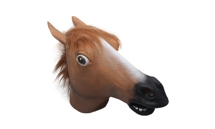 full head horse mask latex animal creepy halloween cosplay party
