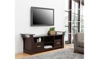 Ambular Walnut Multi Shelf Stand