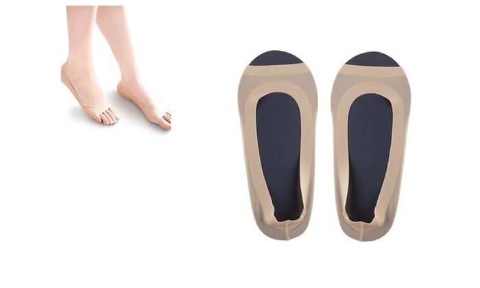 bortzone: 4Pack Open Toe Invisible Sock For Sandals