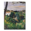 Paul Cezanne Landscape with Red Roof Canvas Print