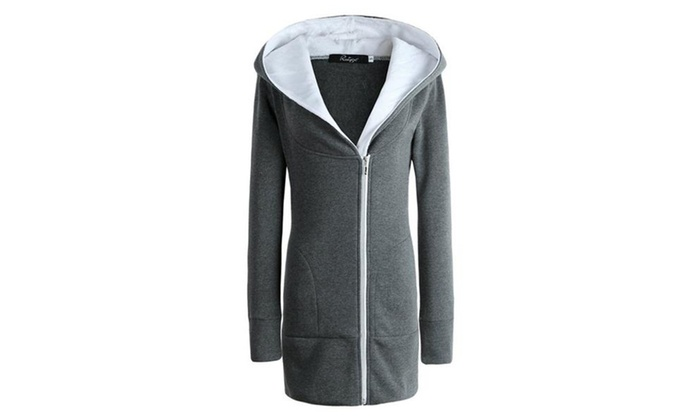 Women's Hooded Thicked Sweatershirt Fleece Jacket