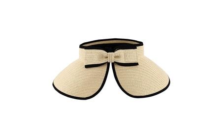 Sun Styles Joan Ladies Visor Sun Hat 0845ae37-92f5-4a65-8074-31d4c261e3da