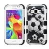 Insten Soccer Ball Collage Silicone Case For Galaxy Core Prime White