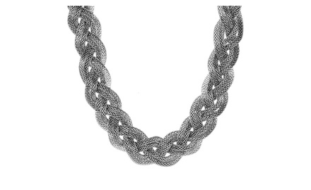 ELYA Stainless Steel Mesh Braided Necklace