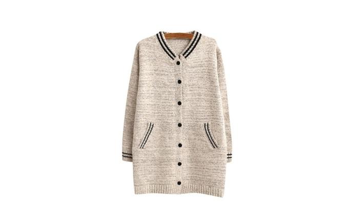 Women's Baseball Uniform Knitted Sweater