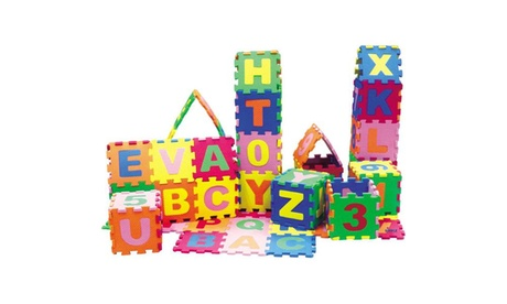 Baby Foam Play Puzzle Mat with Interlocking Letters and Numbers (36-Piece) cb17507f-7042-4891-8efb-52433438ab94