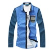 Men's Fashion Cotton Single breasted Printed Button Fuzz Shirt