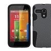 Insten Grey Black Phone Protective Case Cover For MOTOROLA Moto G