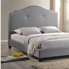 Marsha Scalloped Bed with Upholstered Headboard