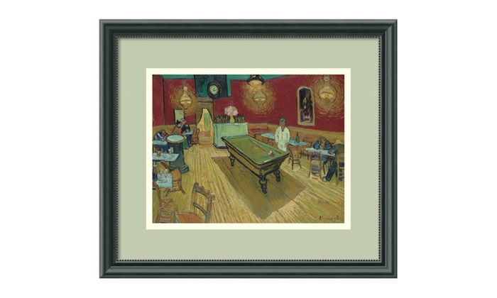 Groupon Goods: Vincent van Gogh 'Night Cafe, 1888' Framed Art Print 16 x 14-in