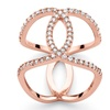 .47 TCW CZ Loop Ring in Rose Gold-Plated Silver