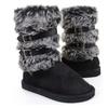 Super Furry Shearling Mukluks Flat Easkimo Boots Black