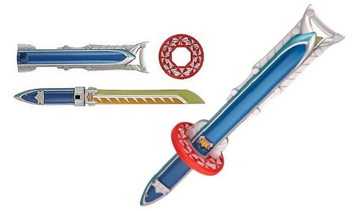Power Rangers Battle Gear Barracuda Blade | Groupon  Power Rangers Samurai Gold Ranger Barracuda Blade Toy