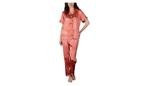 4PING Womens Short-sleeved Pants Home Service Two-piece Pajamas f31db88b-2f16-4d9c-ad53-9df4d4b8f43c