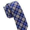 Skinny Tie Madness Men's Stay Away Blue Plaid Skinny tie