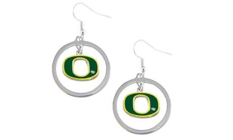 Oregon Ducks Hoop Logo Earring Set NCAA Charm 7f229393-cb21-4e48-bc72-9d38a8580683