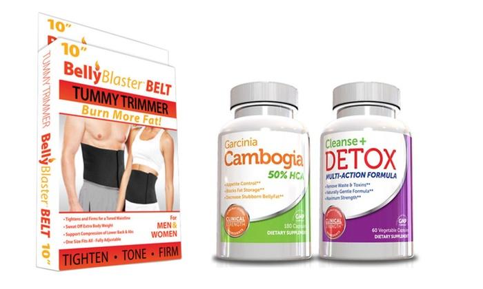 Buy It Now : Fat Burner Kit-Garcinia Cambogia Cleanse & Detox Free Fat Burner Belt - 2 packs