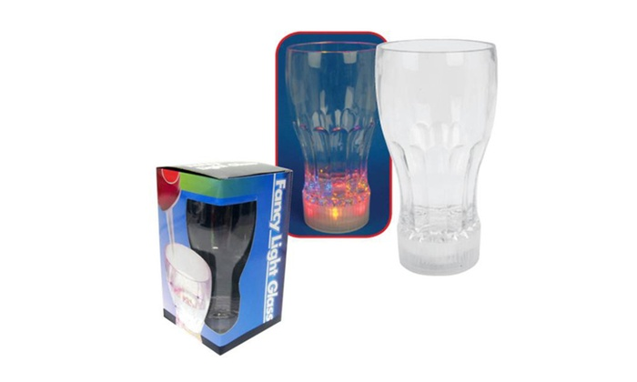 Buy It Now : Bar Drinking Glasses w/Multi-Color Flashing LED Lights