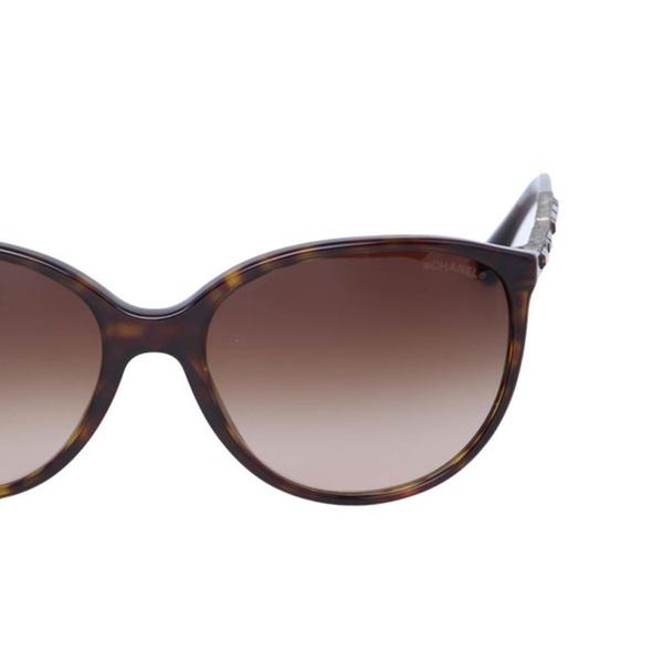 18db1415fd Brand New Chanel 5306B Tortoise Brown Oval Cat Eye Bijou Sunglasses ...