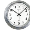 "Timekeeper 401zwa 16"" Galvanized Metal Silver Wall Clock"