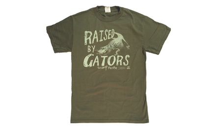 Swamp People Raised By Gators History Channel Adult T-Shirt